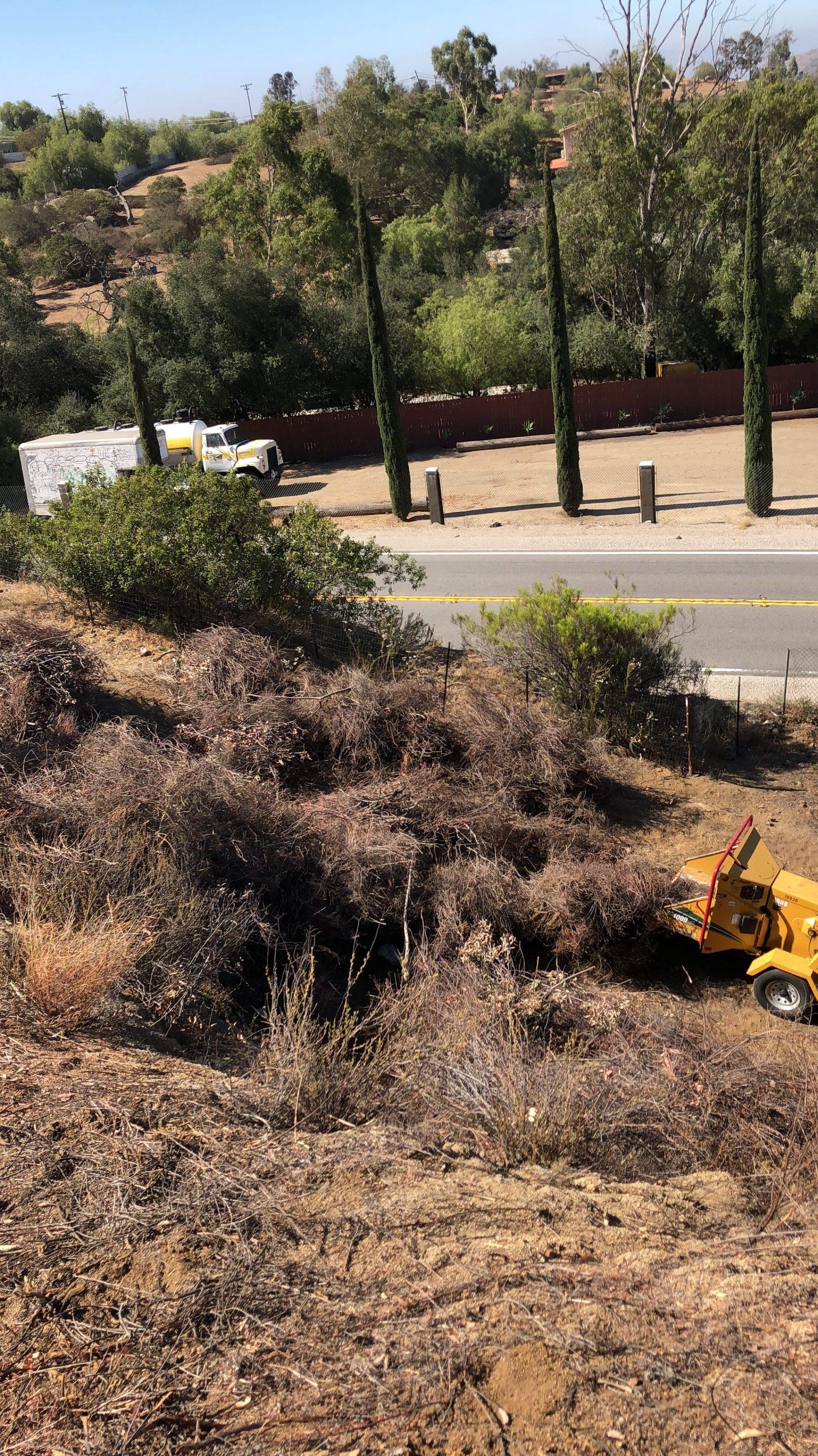 hillside grading and brush removal